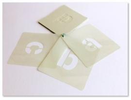 25mm Lettersjablonen Set a-z Kleine Letters Cargo Font