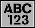 25mm  Letters + Cijfers. Voordeel sjablonen sets. Cargo font.