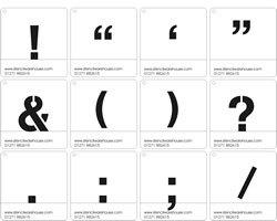 25mm Symbolen Sjablonen Cargo Font - Set A