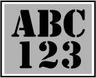 25mm  Letters + Cijfers. Voordeel sjablonen sets. Stencil font.