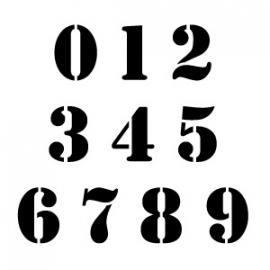 200mm Sjablonen Cijfers Set Stencil Font 0-9