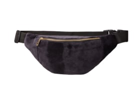 "Bumbag ""UNI"" Black Velvet- golden zipper"
