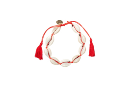 Big Shells Anklet - Red