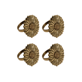 Daisies napkin rings  set (4)