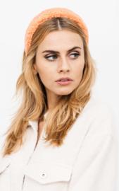 Teddy  headband - coral
