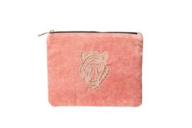 TIGER Clutch - Velvet Blush Pink