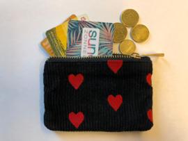 """Wallet """"SPREAD LOVE"""" - Black & Red - XXS"""
