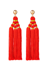 BULU Statement Earrings - Red