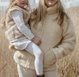 Wollen jas volwassen - Beige