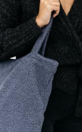 Teddy totebag- blue/grey