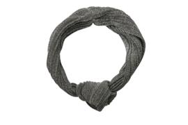 Headband glitter - rib SILVER