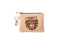 LION Wallet  & key-chain- JUTE