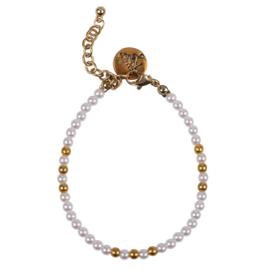 Happy Beads Bracelet - White & Gold