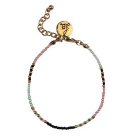 Happy Beads Bracelet - Pink & Mint