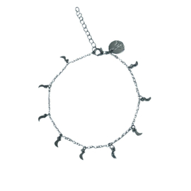 Shining Moon Silver anklet