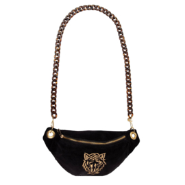 "Crossbody bumbag -""TIGER""- Velvet Black"