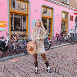 Teddy scarf- lilac/pink
