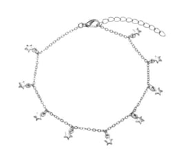 Falling Stars anklet - Silver