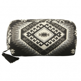 """Mindah"" Make-up Case- black & white"