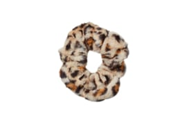 Fake FUR scrunchie- OMG its so fluffy- LEOPARD