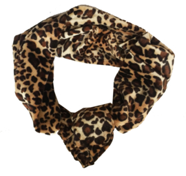 Velvet headband - leopard brown