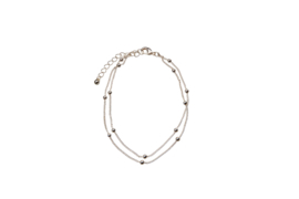 Double Balls Anklet - Silver