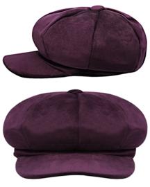 Velvet Cap - Aubergine