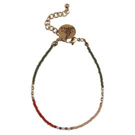 Happy Beads Bracelet - Multicolor & Green