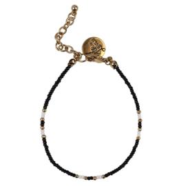 Happy Beads Bracelet - Black & White