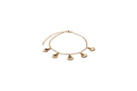 Dangling golden shells anklet