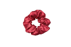 Drop it like its DOT-  scrunchie- red
