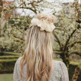 Scrunchie XL - White Lace
