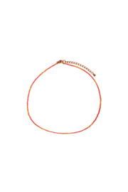 Happy Beads Necklace - CORAL & pink