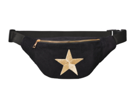 "Bumbag ""GOLDEN  star"" - Black & Gold"