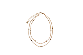 Double Balls Anklet - Gold