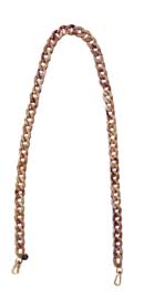 Marble Chain Bagbelt - Beige & Tortoise