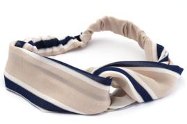 Headbands stripes - nude/blue