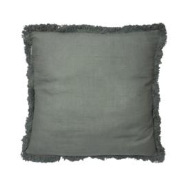 Fringe cushion Teal