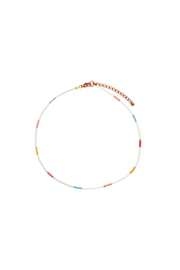 Happy Beads Necklace - MULTICOLOR & white