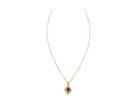 """""""Velvet Red"""" Stone Necklace"""