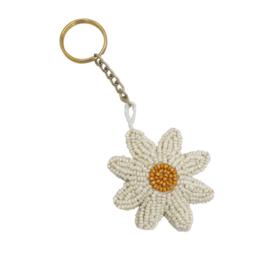 Beaded Daisy sleutelhanger