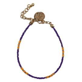 Happy Beads Bracelet - Blue & Orange
