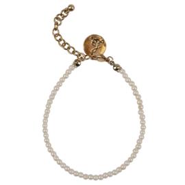 Happy Beads Bracelet - White Pearls