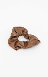 "Scrunchie ""PU"" - Brown"
