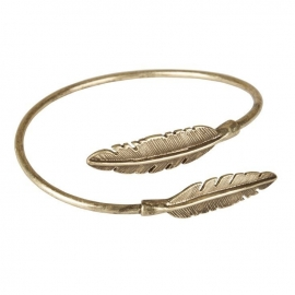 """Two feathers come together"" Cuff-gold"