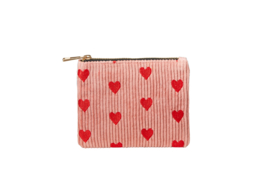"""Etui """"SPREAD LOVE"""" - Pink & Red - S"""