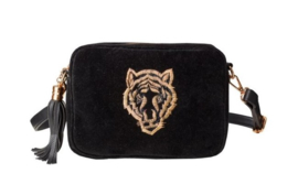 "Buluci Handbag - ""TIGER"" - Velvet Black"