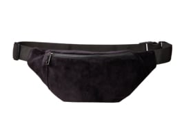 "Bumbag ""UNI"" Black Velvet- gun metal zipper"