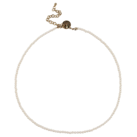 Happy Beads Necklace - White Pearls
