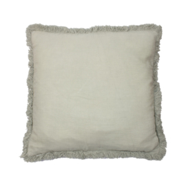 Fringe cushion LIGHT GREEN